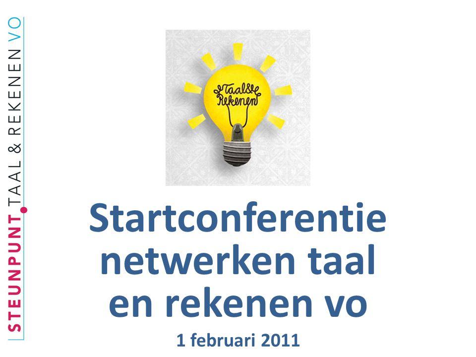 Startconferentie netwerken taal en rekenen vo 1 februari 2011
