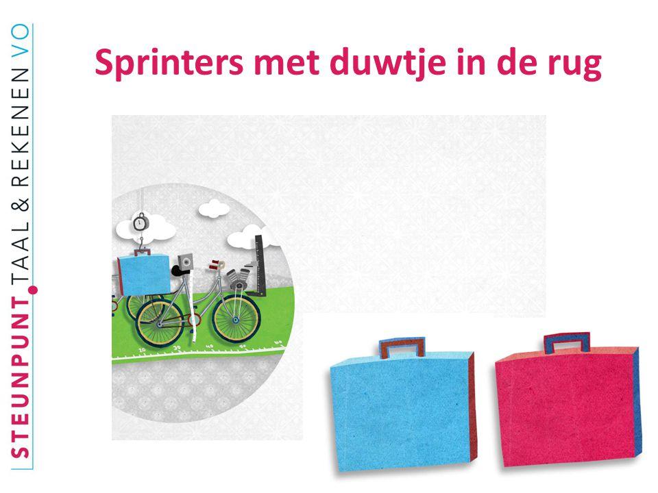 Sprinters met duwtje in de rug