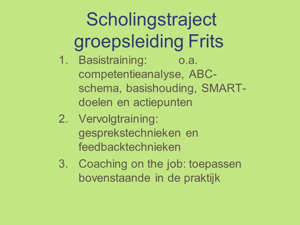 Scholingstraject groepsleiding Frits 1.Basistraining:o.a.