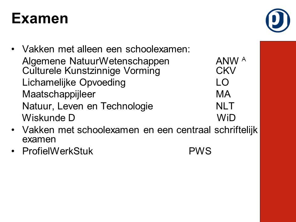 Schoolexamenweken: SE 1: november SE 2: januari SE 3: april Luistertoetsen MVT: januari Inhalen en herkansen SE 1 op 14 december 2010 en SE 2 op 8 maart 2011.