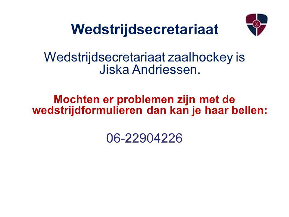 Wedstrijdsecretariaat Wedstrijdsecretariaat zaalhockey is Jiska Andriessen.