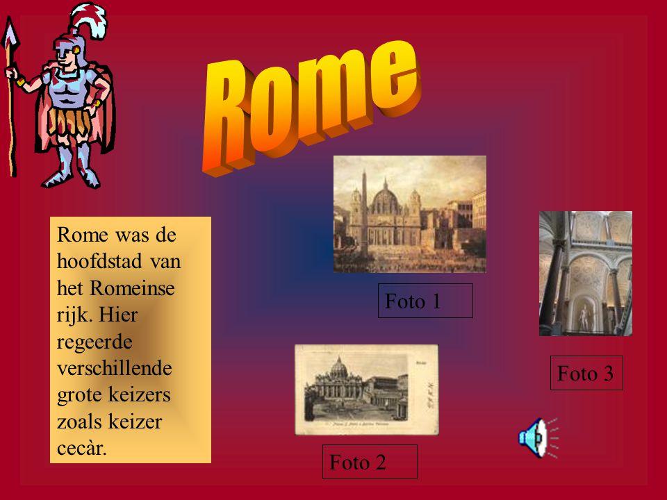 Rome heeft veel verschillende soorten keizers gehad. De bekendste is, Augustus, hij was van –31 tot 14 keizer.