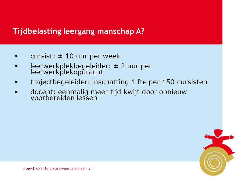 Besluit9 cursist: ± 10 uur per week leerwerkplekbegeleider: ± 2 uur per leerwerkplekopdracht trajectbegeleider: inschatting 1 fte per 150 cursisten do