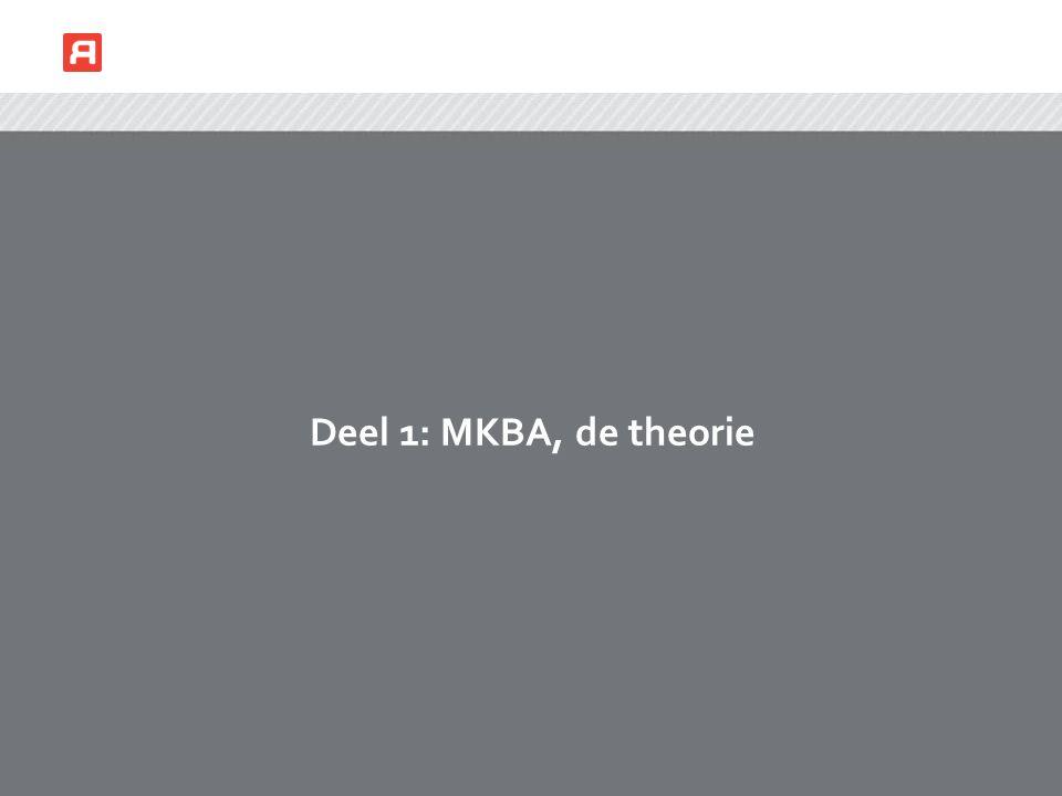 Deel 1: MKBA, de theorie