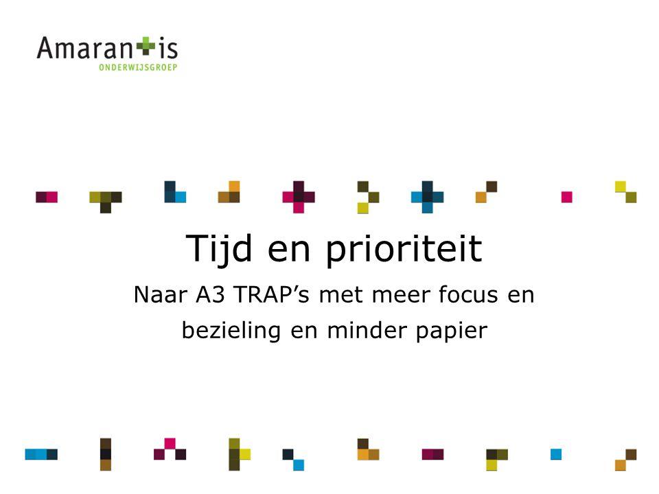 2 Tijd en prioriteit Naar A3 TRAP's met meer focus en bezieling en minder papier