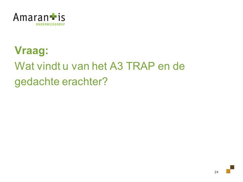 24 Vraag: Wat vindt u van het A3 TRAP en de gedachte erachter?