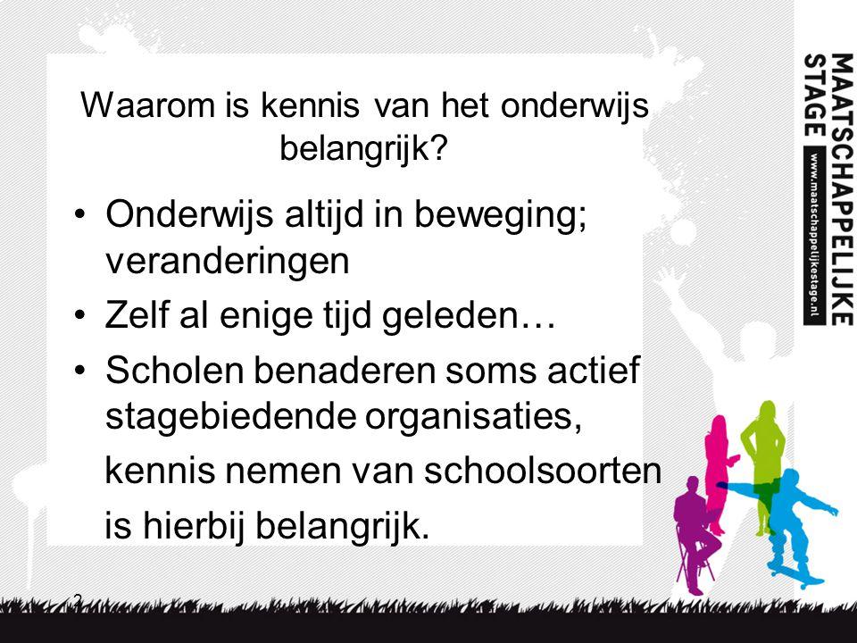 3 Het Nederlandse onderwijs basisonderwijs VMBO HAVO-VWO MBO WO SO SBO BBTL KBGL HBO PRO