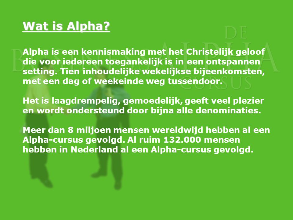 Wat is Alpha.