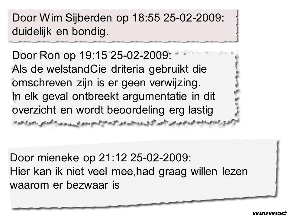 Door Ron op 19:15 25-02-2009: Als de welstandCie driteria gebruikt die omschreven zijn is er geen verwijzing.