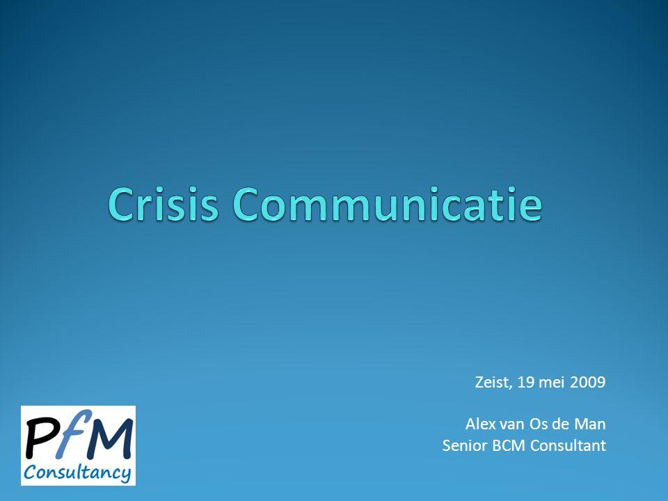 Zeist, 19 mei 2009 Alex van Os de Man Senior BCM Consultant