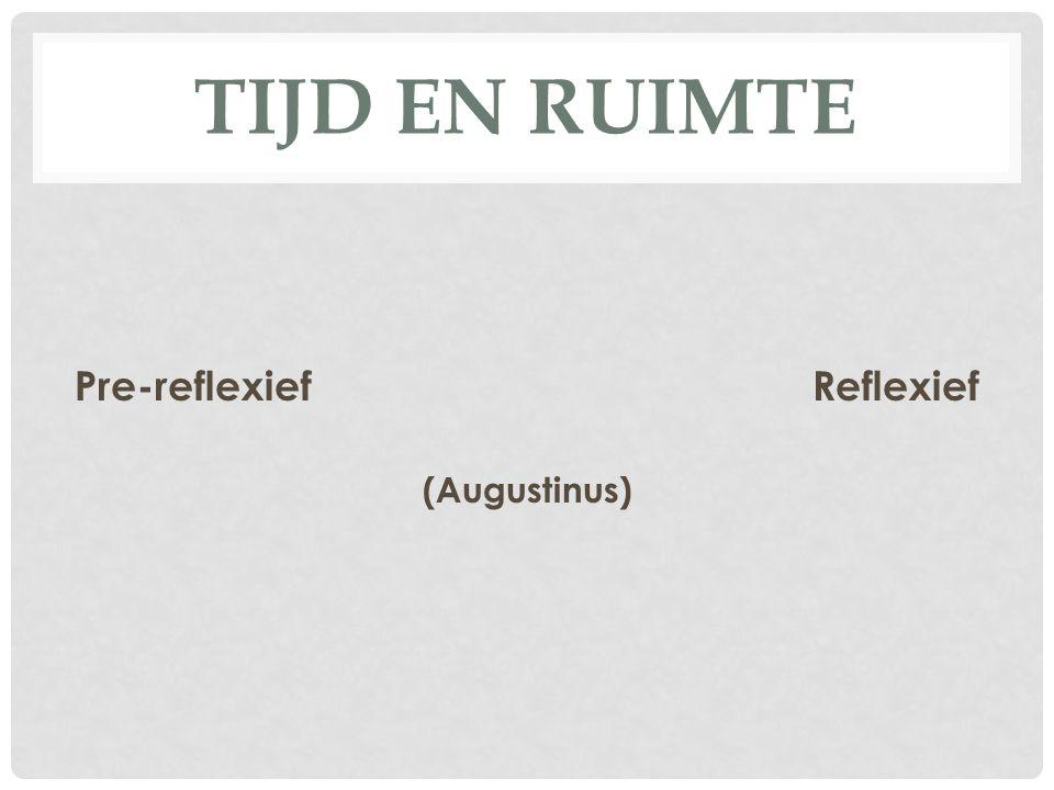 TIJD EN RUIMTE Pre-reflexiefReflexief (Augustinus)