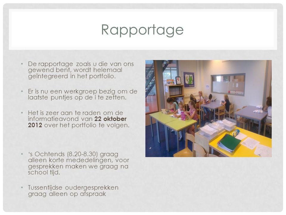 Waar gaat het team aan werken Opzetten van een vernieuwd portfolio waarin de rapportage is geïntegreerd.