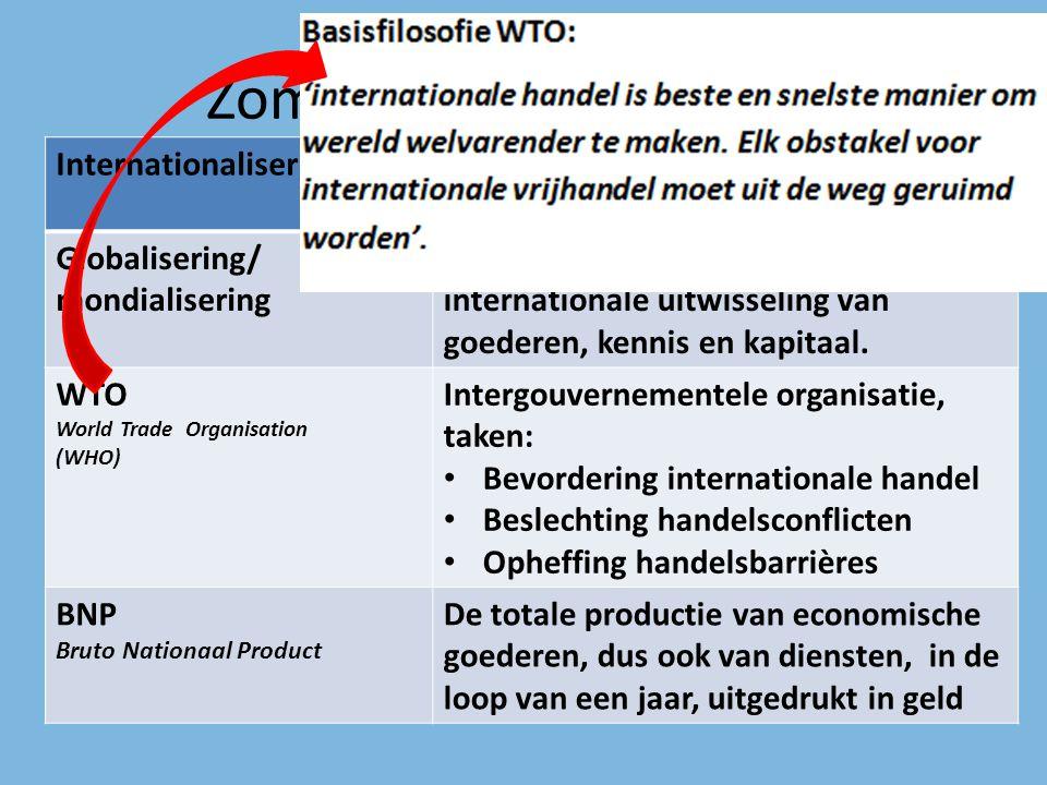 Zomaar wat begrippen… InternationaliseringProces waarbij producten en ideeën tussen landen worden uitgewisseld Globalisering/ mondialisering Het steed