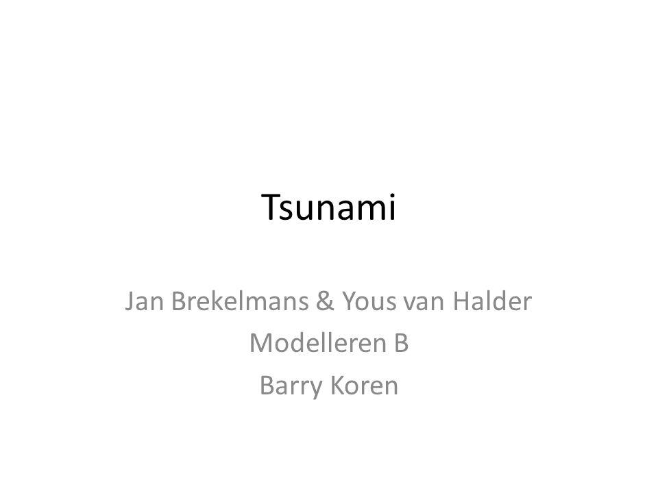 Tsunami Jan Brekelmans & Yous van Halder Modelleren B Barry Koren