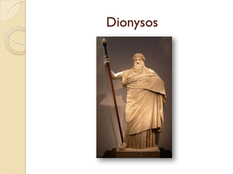 Dionysoscultus en theater  In beide Dionysia was theater belangrijk  HET moment om tragedies voor te dragen  Competitieverband  Uit deze cultus 3 dramasoorten - Tragedie, - Saterspel, - Komedie.