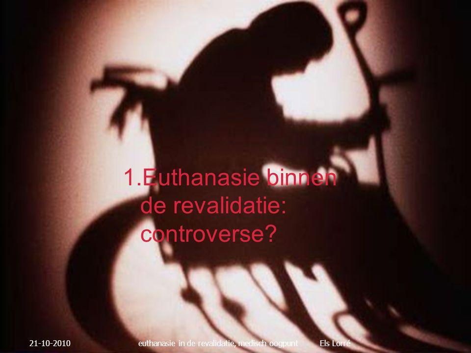  Aandacht voor de familie  Informatie geven over verloop  Rustig en professioneel aanwezig zijn 21-10-2010euthanasie in de revalidatie, medisch oogpunt Els Lorré