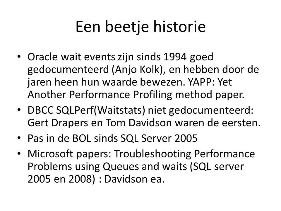 Een beetje historie Oracle wait events zijn sinds 1994 goed gedocumenteerd (Anjo Kolk), en hebben door de jaren heen hun waarde bewezen. YAPP: Yet Ano