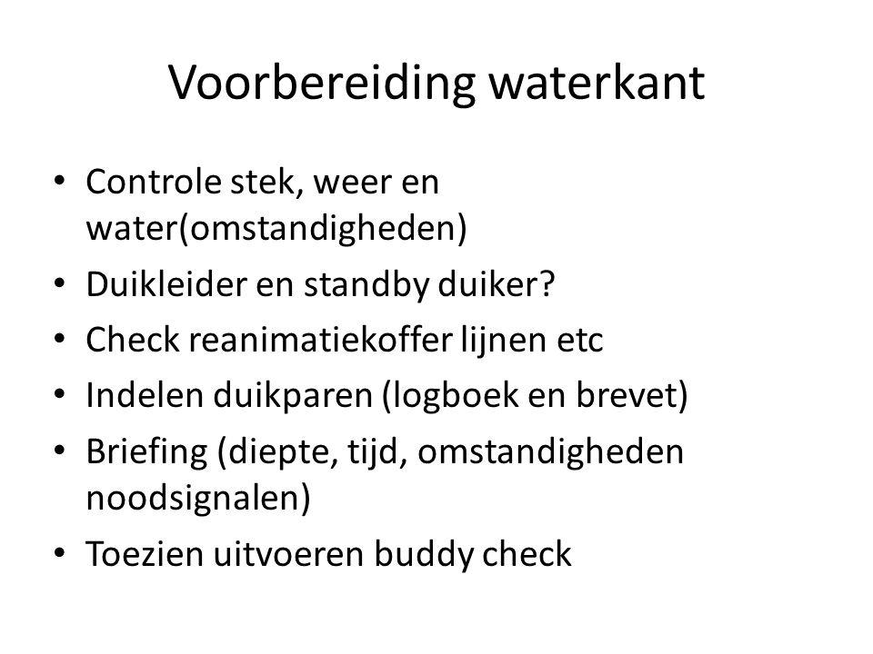 duiken Tijd en druk registeren voor en na duik (duikleider) toezichthouden