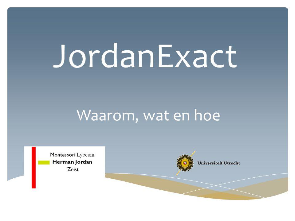 JordanExact Waarom, wat en hoe