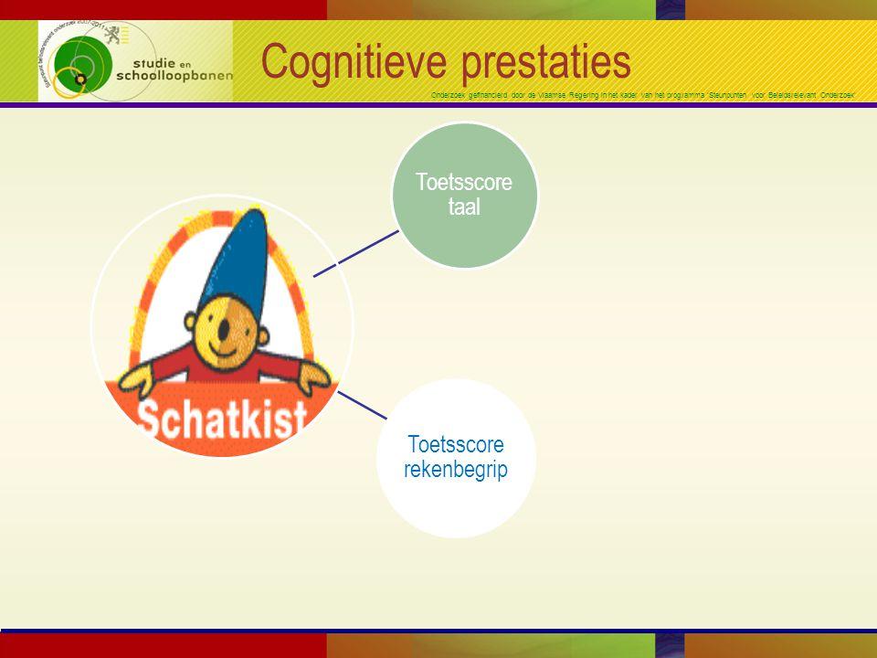 Onderzoek gefinancierd door de Vlaamse Regering in het kader van het programma 'Steunpunten voor Beleidsrelevant Onderzoek' Cognitieve prestaties