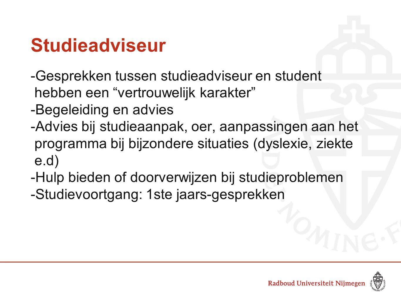 Studentendecaan -Behartigt in eerste instantie de individuele belangen van de student.