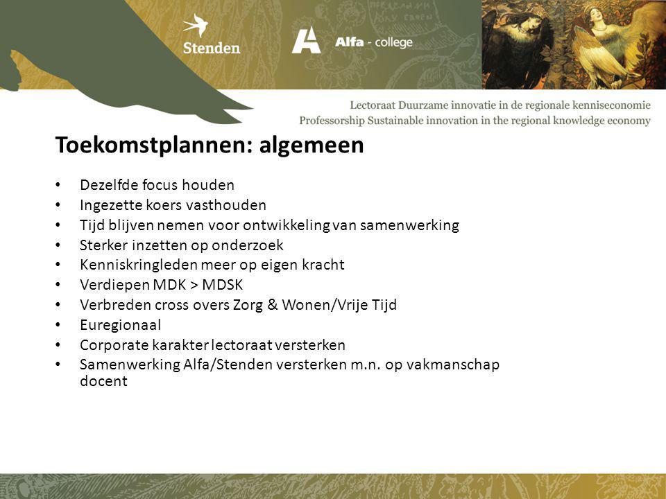 Winterschouw in januari 2014: eerste resultaten MDSK's en grotere Zomerschouw in juni 2014: de relatie met Osnabrück 10 MDSK's met enkele projecten rondom 2 MDK's Uitrollen Recomalab-werkwijze naar andere locaties en opleidingen o.l.v.