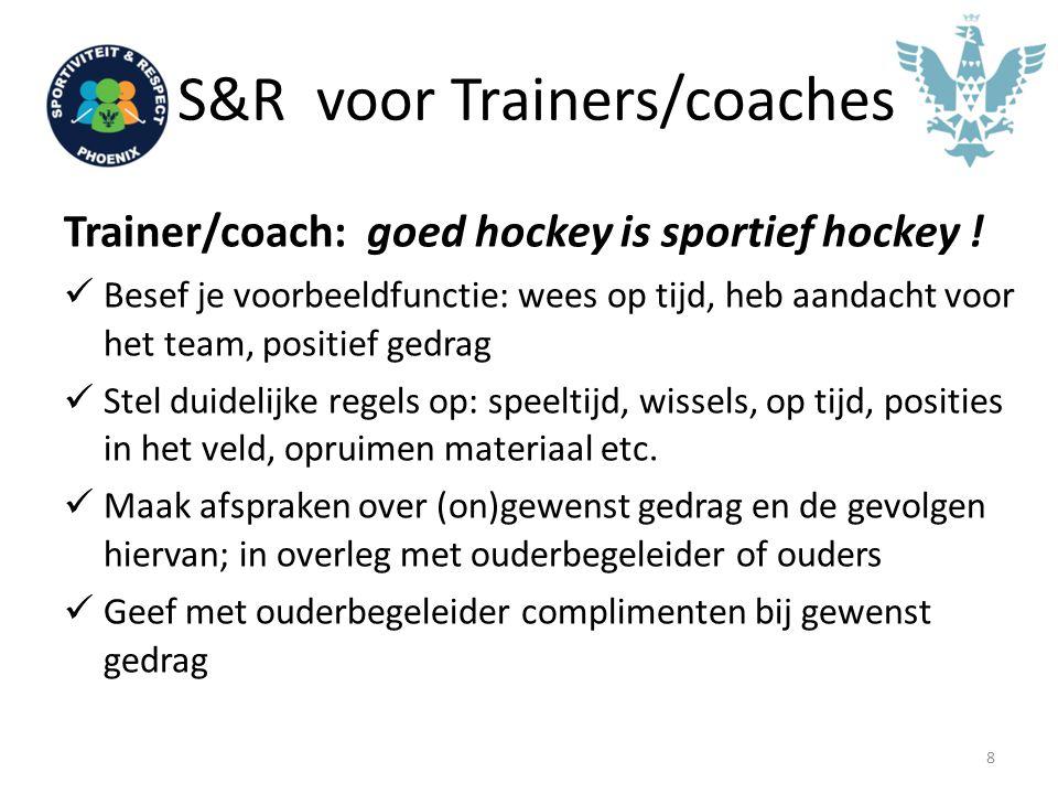 S&R voor Ouderbegeleiders Ouderbegeleider: coach sportief gedrag .