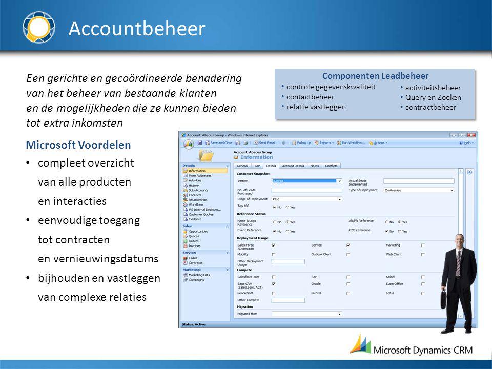 Accountbeheer Een gerichte en gecoördineerde benadering van het beheer van bestaande klanten en de mogelijkheden die ze kunnen bieden tot extra inkoms