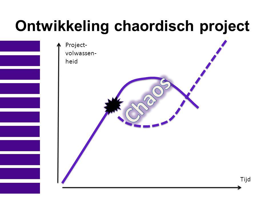 Ontwikkeling chaordisch project Project- volwassen- heid Tijd