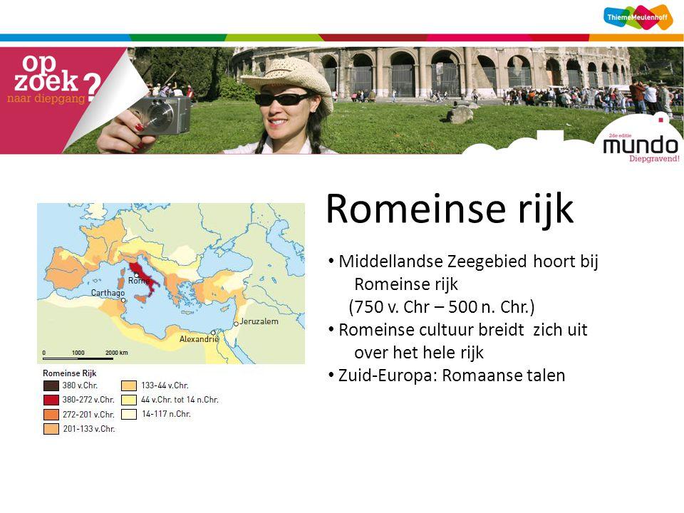 Romeinse rijk Middellandse Zeegebied hoort bij Romeinse rijk (750 v.