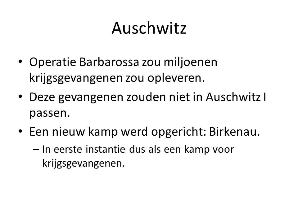 Auschwitz Operatie Barbarossa zou miljoenen krijgsgevangenen zou opleveren. Deze gevangenen zouden niet in Auschwitz I passen. Een nieuw kamp werd opg