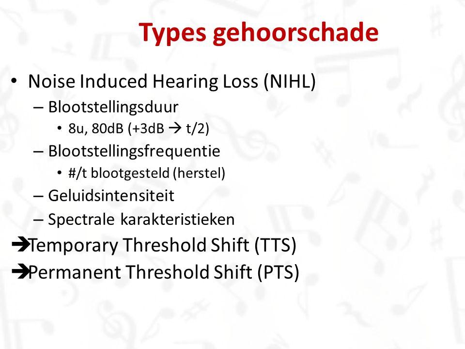 Types gehoorschade