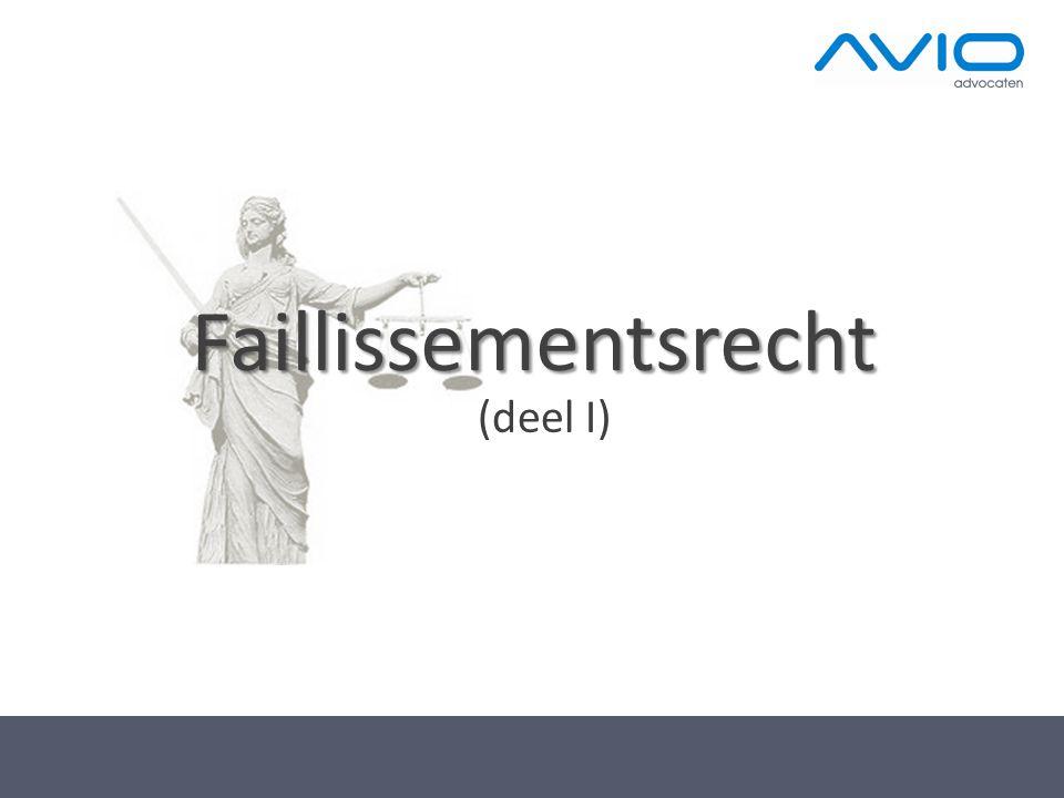 Faillissementsrecht (deel I)
