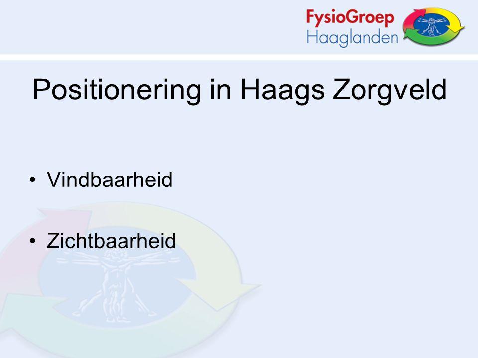 Positionering in Haags Zorgveld Vindbaarheid Zichtbaarheid