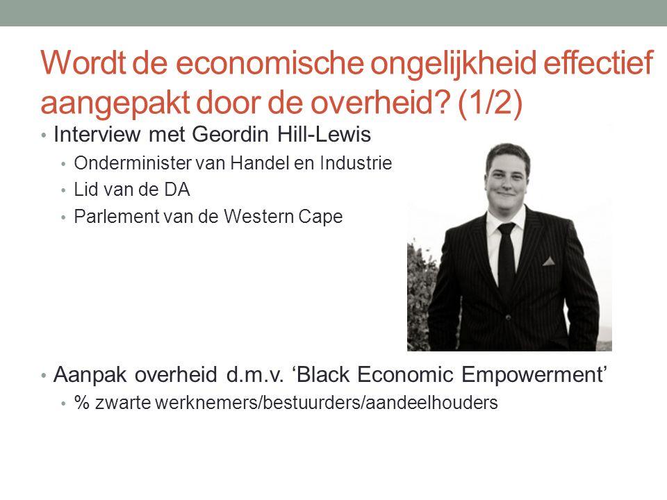 Wordt de economische ongelijkheid effectief aangepakt door de overheid.