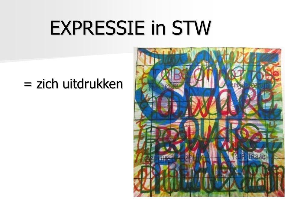 EXPRESSIE in STW = zich uitdrukken = zich uitdrukken