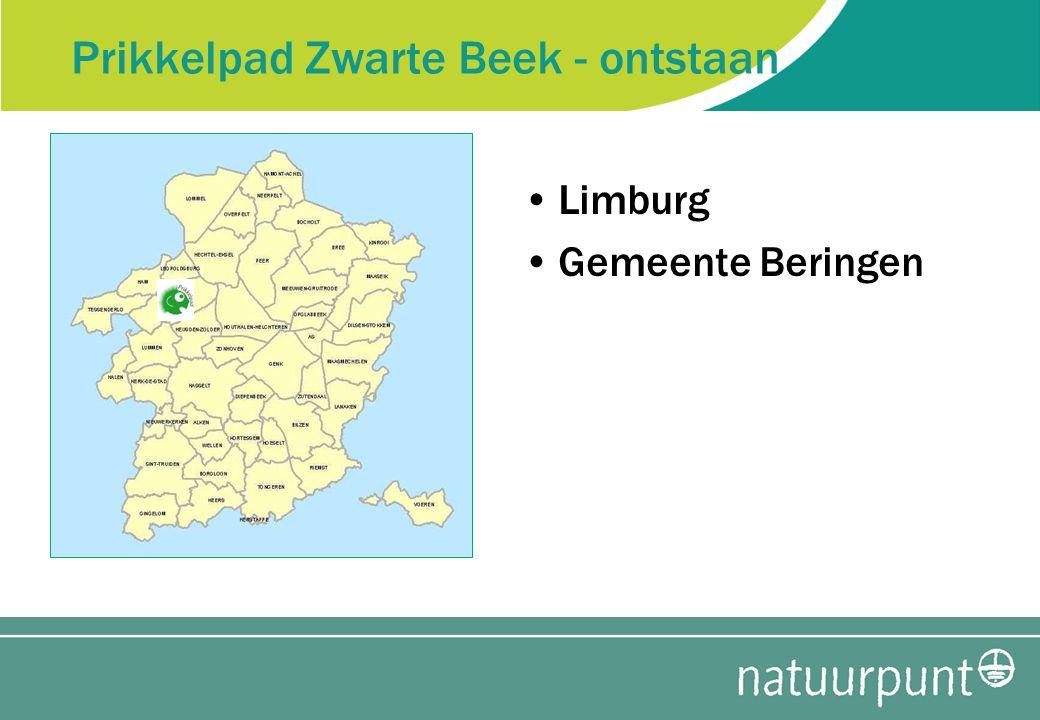 Prikkelpad Zwarte Beek - ontstaan Limburg Gemeente Beringen