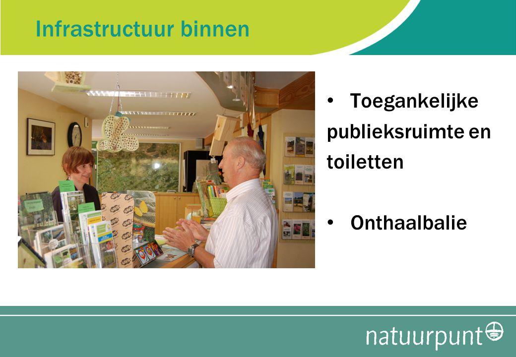 Infrastructuur binnen Toegankelijke publieksruimte en toiletten Onthaalbalie