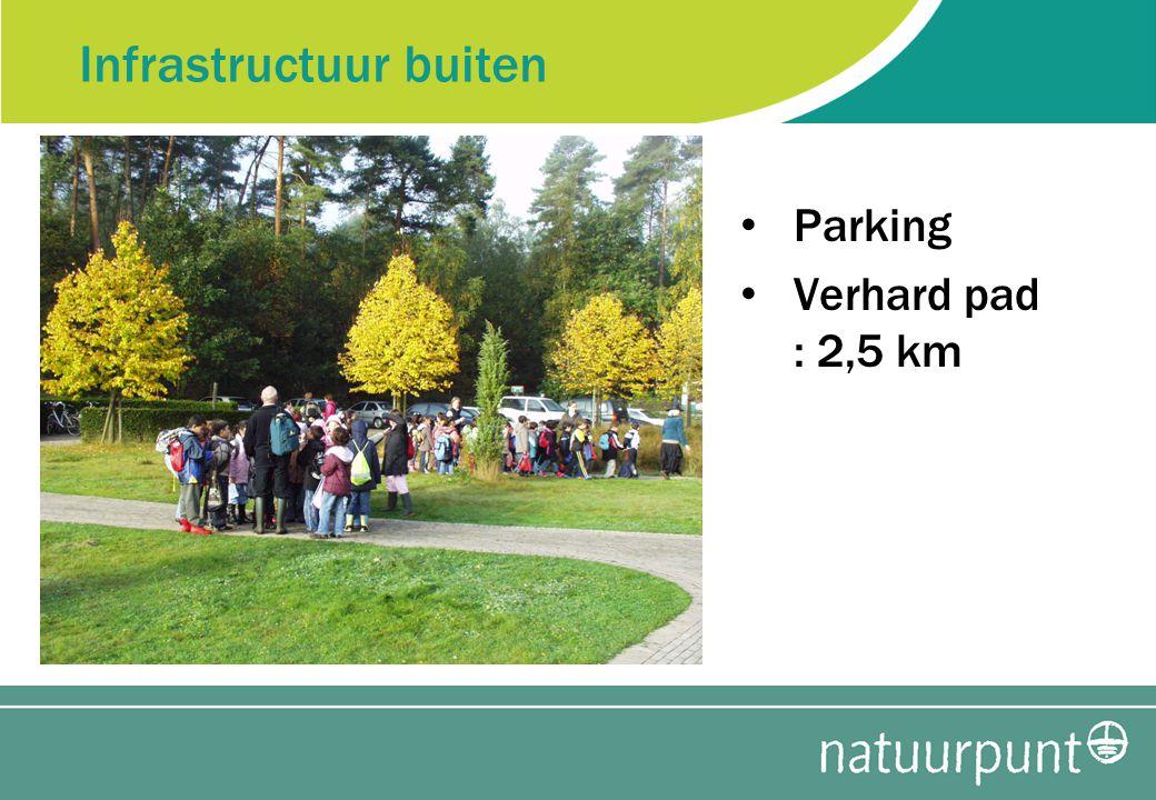 Infrastructuur buiten Parking Verhard pad : 2,5 km