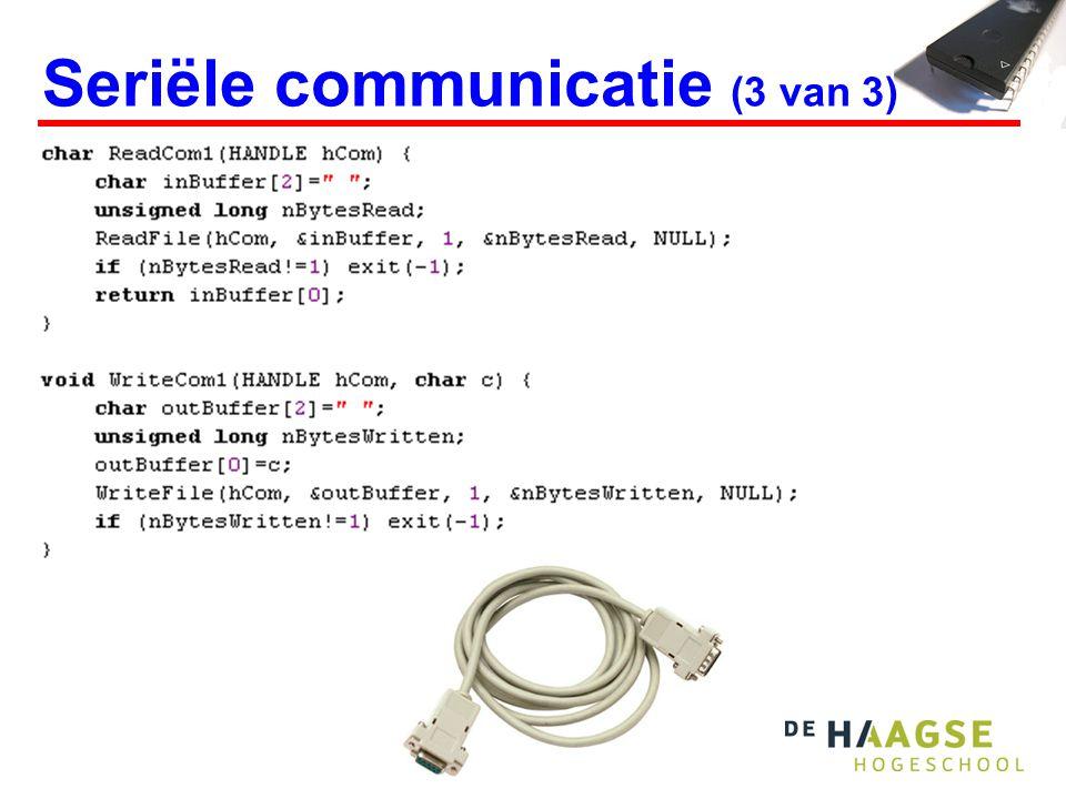 Seriële communicatie (3 van 3)