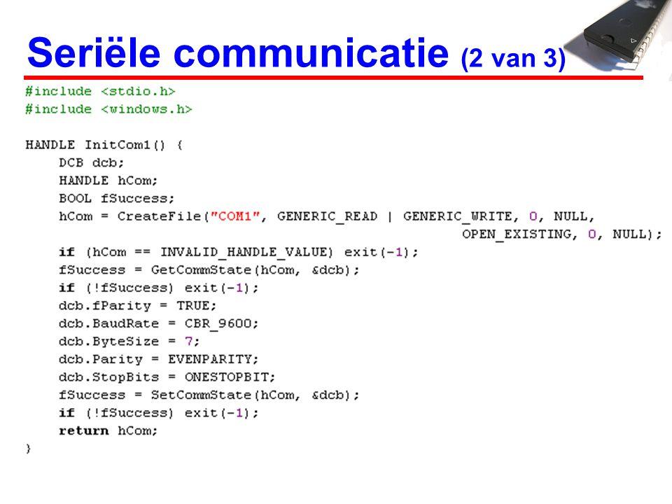 Seriële communicatie (2 van 3)