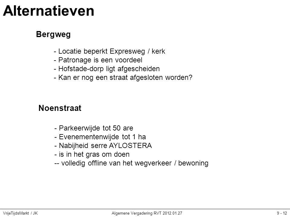 VrijeTijdsMarkt / JKAlgemene Vergadering RVT 2012.01.2710 - 12