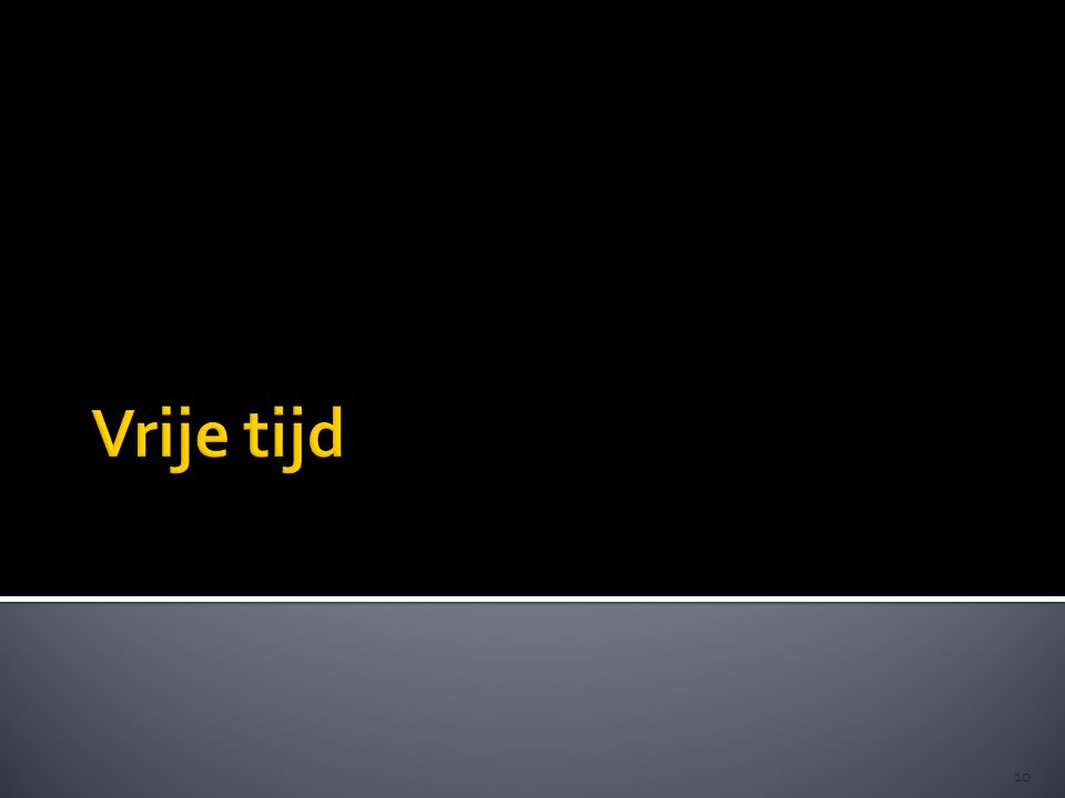 11 Een gedifferentieerd vrijetijdsveld… Technische hobby's Gaan kijken sportwedstrijden Creatieve hobby's Deelname organisaties met een sociaal doel Sport- vereniging Sms'en of bellen met vrienden tv Internet Op café gaan Buiten… Afspreken met vrienden Dagelijks + meest populair Niet dagelijks, maar populair Sport Fuif, concert… gezin partner workshops winkelen Culturele uitstappen discotheek… Jeugdbeweging