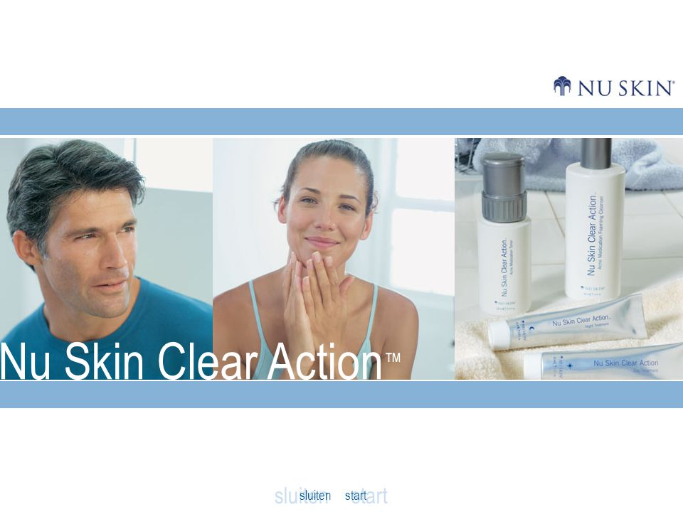 Nu Skin Clear Action ™ sluiten start