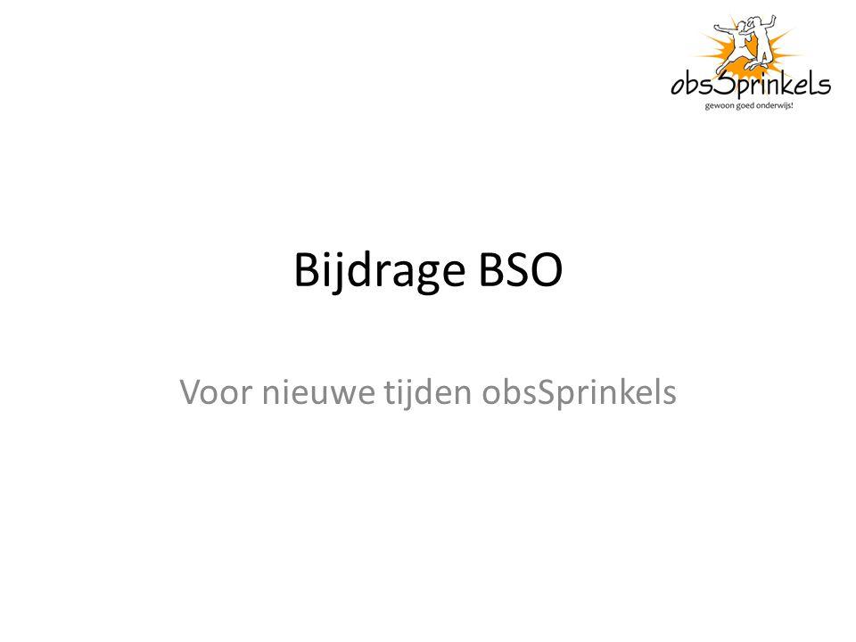 Bijdrage BSO Voor nieuwe tijden obsSprinkels