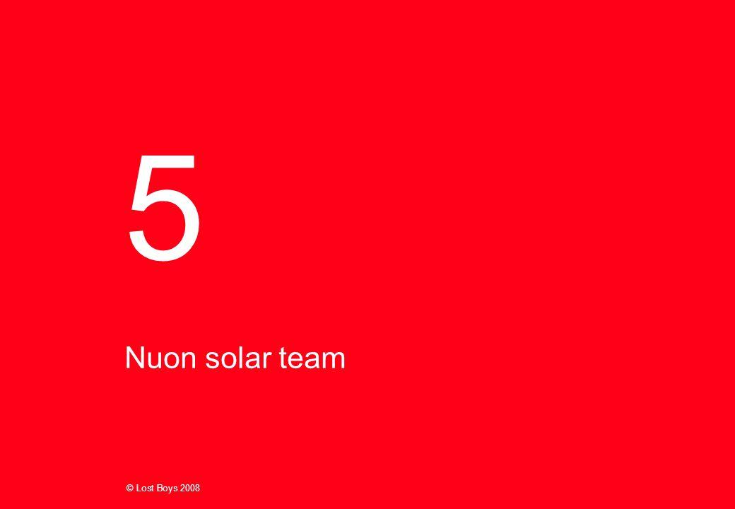 © Lost Boys 2008 Nuon solar team 5