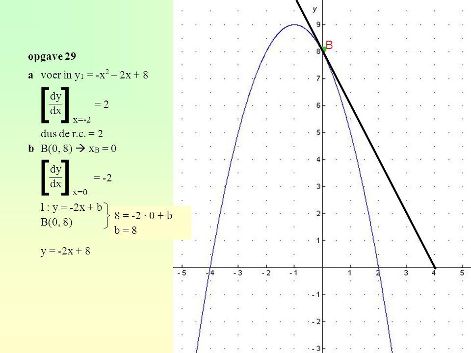 [ ] avoer in y 1 = -x 2 – 2x + 8 = 2 dus de r.c.