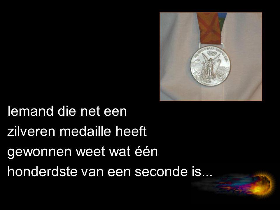 Iemand die net een zilveren medaille heeft gewonnen weet wat één honderdste van een seconde is...