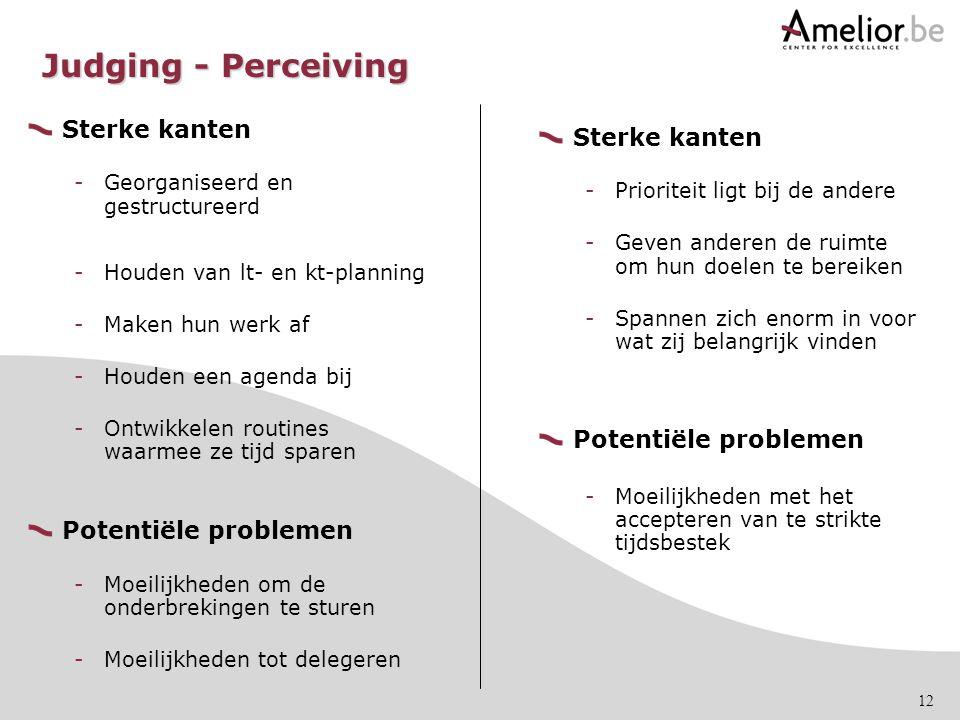 12 Sterke kanten -Georganiseerd en gestructureerd -Houden van lt- en kt-planning -Maken hun werk af -Houden een agenda bij -Ontwikkelen routines waarm