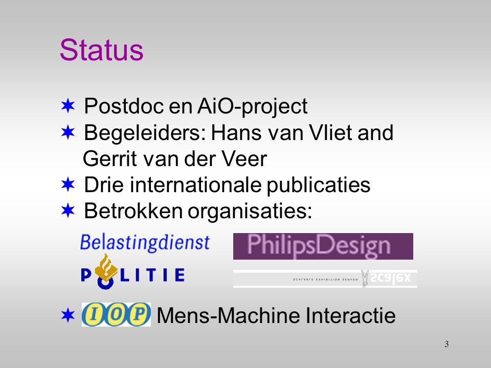 2 Inhoud  Status  Probleem  Doel  Theorie  Veranderingsmodel  Vooruitzichten  Vragen Bedrijvendag 2002